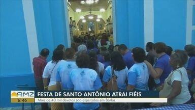 Festa de Santo Antônio atrai milhares de fiéis para o município de Borba - Mais de 40 mil devotos são esperados no município.