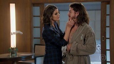 Vanessa quer que Quinzinho faça as pazes com Mercedes - Vanessa diz para Quinzinho voltar para sua casa