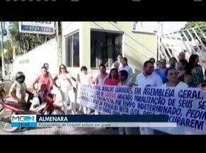 Funcionários de hospital fazem greve em Almenara - Servidores alegam que a falta de repasses de verbas do Governo de Minas prejudica funcionamento e pagamentos.