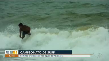 Praia de Povoação, no Norte do ES, recebe campeonato de surf - Campeonato terá etapa profissional no final de semana.