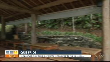Restaurantes de Vargem Alta registram movimento maior com a chegada do tempo frio no ES - Em alguns lugares, quantidade de clientes dobrou.