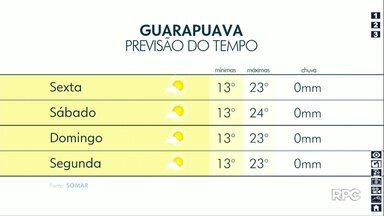 Veja como fica o tempo para os próximos dias - Fim de semana não tem previsão de chuvas na região de Guarapuava.