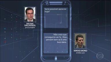 Site publica mais mensagens atribuídas a Moro e Dallagnol - Procurador teria citado o ministro Luiz Fux, do Supremo, no grupo de procuradores da Lava Jato. Segundo o site Intercept, a conversa teria ocorrido em abril de 2016.