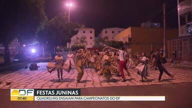 Quadrilhas se preparam para os campeonatos do DF - A nossa reportagem foi conferir os ensaios de duas quadrilhas, uma em Samambaia e outra em São Sebastião.