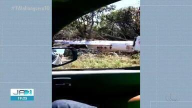 Acidente entre três veículos deixa um homem ferido na TO-080 - Acidente entre três veículos deixa um homem ferido na TO-080