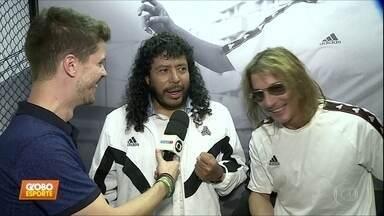 Higuita e Caniggia, astros do passado, estão no Brasil para acompanhar a Copa América - Higuita e Caniggia, astros do passado, estão no Brasil para acompanhar a Copa América