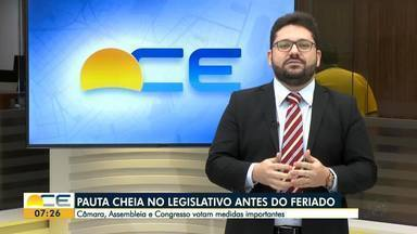 Legislativo tem pauta cheia antes do feriado de Corpus Christi - Veja o comentário de Inácio Aguiar.