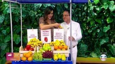 Consumo de frutas reduz riscos de ataque cardíaco e AVC - Pesquisa mostra que os jovens estão consumindo cada vez menos frutas. Lair Rennó faz uma blitz em uma escola para descobrir se as crianças levam frutas para o lanche