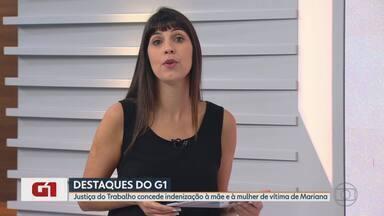G1 no MG1: Justiça do Trabalho concede indenização à mãe e à mulher de vítima de Mariana - A decisão de dupla indenização é inédita nos processos envolvendo o rompimento da barragem de Fundão; somado, o valor total pago à família chega a R$ 2,15 milhões.