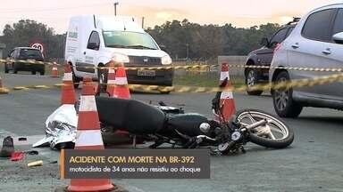 Homem de 34 anos morre em acidente de trânsito em Rio Grande - Luis Carlos da Cruz Lamadril, de 34 anos, conduzia motocicleta que se chocou com caminhão no km 04 da BR-392.