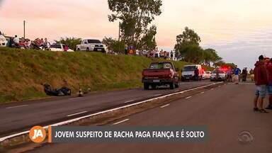Jovem que causou a morte de motociclista paga a fiança e é solto em Passo Fundo - Suspeito de participar de racha tem a habilitação suspensa.