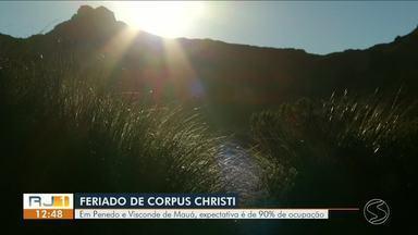 Feriado Corpus Christi: veja as opções no Sul do Rio e litoral - Taxa de ocupação é de 90%.