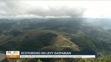 Ecoturismo em Levy Gasparian:pedra da Paraibuna é um dos destinos procurados por turistas - Ela fica ao lado de alguns hotéis e bares. Donos estão lucrando com a movimentação no local.