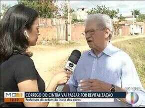 Prefeitura dá ordem para início das obras no córrego do Cintra - Córrego será revitalizado e será construído duas avenidas.