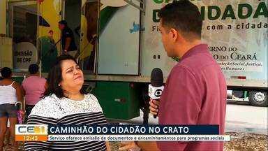 Caminhão do cidadão no Crato oferece emissão de documentos - Confira mais notícias em g1.globo.com/ce