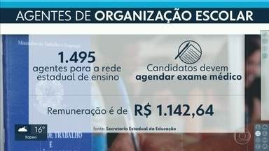 Secretaria Estadual da Educação contrata 1.495 agentes escolares - Candidatos foram aprovados em um concurso público do Governo do Estado no ano passado.