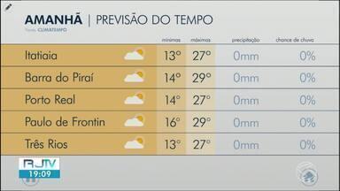 Sol entre nuvens predomina no Sul do Rio nesta quarta-feira - Previsão é de umidade em torno dos 40%, abaixo do ideal.