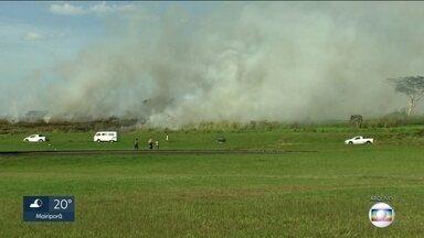 Aumenta preocupação com queimadas no Estado de São Paulo - Só até dia 17 de junho foram registrados 102 focos de incêndio em mato. Operação Corta Fogo esse ano vai contar com ajuda de drones.