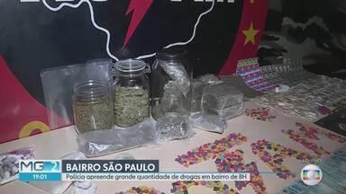 Polícia apreende grande quantidade de drogas na Região Nordeste de BH - Valor do material seria de R$2 milhões. Droga seria vendida em festa de música eletrônica.