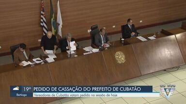 Câmara Cubatão, SP, vota pedido de cassação do prefeito Ademário Oliveira - Sessão do legislativo analisou a pauta na tarde desta terça-feira (18).