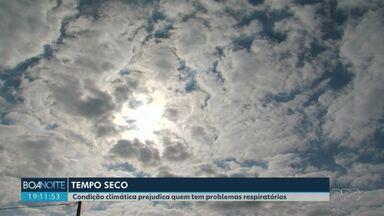 Tempo seco tem dificultado a vida de pessoas com doenças respiratórias - Guarapuava está há 16 dias sem chuva significativa.