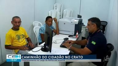 Caminhão do cidadão atende até amanhã no Crato - Confira mais notícias em g1.globo.com/ce
