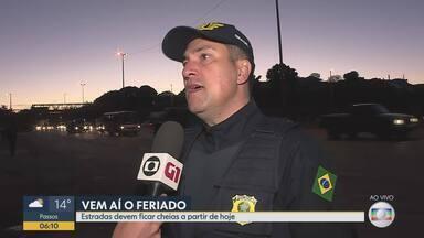 Estradas mineiras têm operação especial para feriado de Corpus Christi - Polícia Rodoviária Federal, Arteris Fernão Dias e Via 040 começam a operação nesta quarta-feira (19).