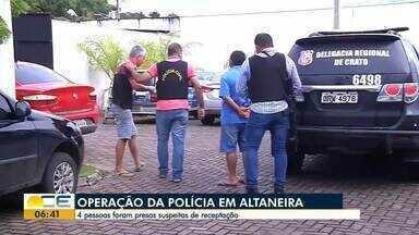 Quatro pessoas são presas suspeitas de receptação em Altaneira - Carros com placas clonadas foram apreendidos.