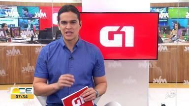 Reveja os destaques do G1 desta quarta-feira (19) - Entre os assuntos, a Prefeitura de Fortaleza abriu seleção para o cargo de engenheiro civil.