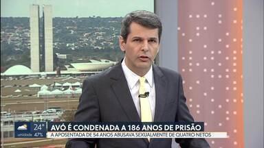 Avó é condenada a 186 anos de prisão - Luzinete Lemos de Abreu, de 54 anos, foi presa em outubro do ano passado por abusar sexualmente dos quatro netos. Além de estuprar as crianças, a aposentada fotografava e filmava cenas de sexo e pornografia com elas.