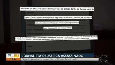 Mais um jornalista é mortos a tiros em Maricá, no RJ - Assista a seguir.