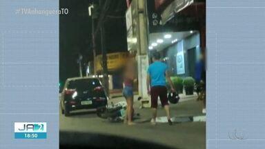 Polícia identifica suspeito de ser homem filmado agredindo mulher com capacete em Palmas - Polícia identifica suspeito de ser homem filmado agredindo mulher com capacete em Palmas