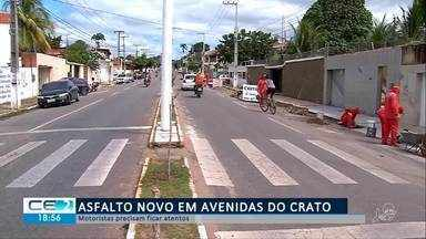 Avenidas do Crato estão com asfalto novo, motoristas devem ficar atentos - Confira mais notícias em g1.globo.com/ce