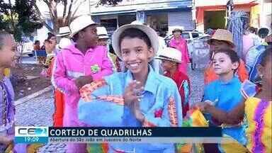 Cortejo de quadrilhas abre São João de Juazeiro do Norte - Confira mais notícias em g1.globo.com/ce