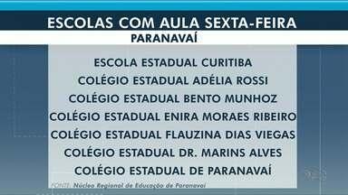 Alguns colégios de Paranavaí terão aula nesta sexta-feira (21) - Em Umuarama e Cianorte, colégios estarão de recesso.