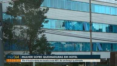 Funcionária de hotel sofre queimaduras durante o trabalho em Foz - Ela teve 40% de um braço queimado.