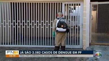 Epidemia de dengue não para de avançar em Presidente Prudente - Já são mais de 2.500 casos positivos da doença confirmados neste ano.