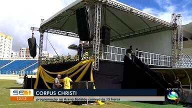 Arquidiocese de Aracaju celebra Corpus Christi na Arena Batistão - Arquidiocese de Aracaju celebra Corpus Christi na Arena Batistão.