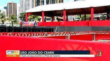 São João do Ceará começa amanhã no aterro da Praia de Iracema - Confira mais notícias em g1.globo.com/ce