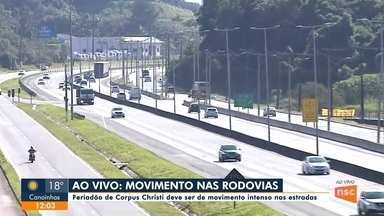 Movimento é intenso nas rodovias da região - Movimento é intenso nas rodovias da região