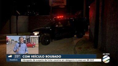 Advogado é preso com caminhonete roubada - Polícia investiga se ele tem envolvimento com furto de cocaína.