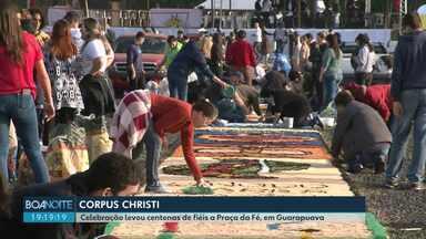 Fiéis celebraram Corpus Christi, em Guarapuava - Nas cidades de Irati, Prudentópolis e União da Vitória também tiveram comemorações.