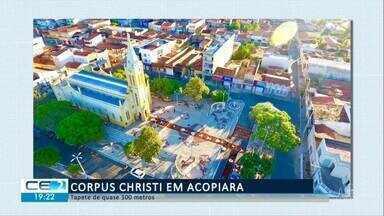 Em Acopiara, morades seguem tradição de Corpus Christi - Confira mais notícias em g1.globo.com/ce