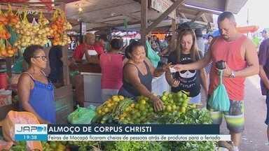 Movimento nas feiras de Macapá aumenta no feriadão prolongado - Em busca do almoço ou do jantar mais natural, população foi atrás do peixe, verduras e outros itens nos espaços.