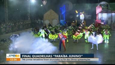 """Conheça as vencedoras do Festival de Quadrilhas """"Paraíba Junino"""" - Na quinta-feira, foi a última noite de apresentações."""
