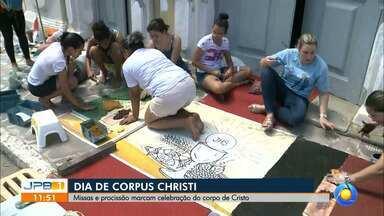 Tapetes no Dia de Corpus Christi em João Pessoa - Algumas ruas de João Pessoa foram interditadas.