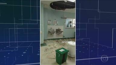 No Rio, parte do teto do CTI do Hospital do Andaraí desaba perto de paciente - Direção do hospital federal afirmou que o vazamento foi consertado e que o atendimento na unidade é normal.