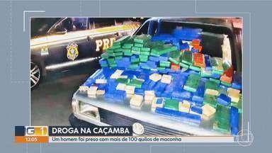 PRF apreende cerca de 180 quilos de maconha durante operação Copa América em BH e região - Apreensões foram feitas na BR-381, em Belo Horizonte, e na BR-262, em Florestal.