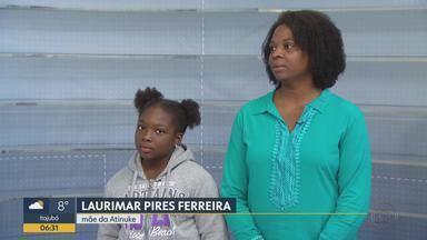 Mãe de menina sequestrada por pai nigeriano diz que não vai impedi-lo de ver a filha - Laurimar Pires foi até a Nigéria procurar pela menina de nove anos. O pai foi preso.