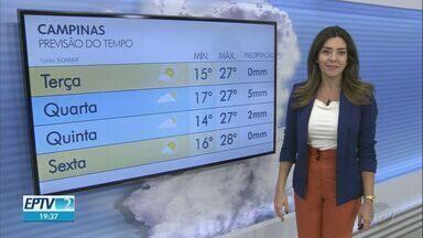 Campinas tem máxima de 27ºC nesta terça-feira - Veja a previsão do tempo para as cidades da região.